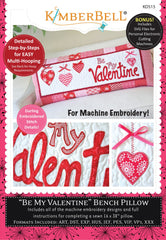 Cd Be My Valentine Bench Pillow (machine Embroidery Cd)
