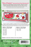 Slice of Summer Watermelon Bench Pillow - Machine Embroidery CD