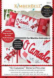 O' Canada! Bench Pillow - Machine Embroidery CD