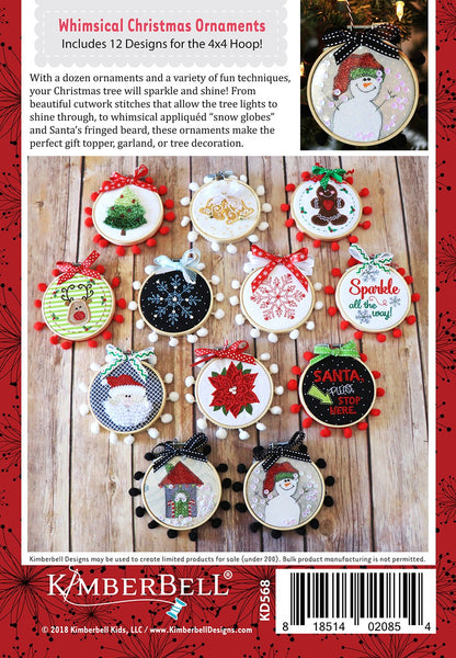 Whimsical Christmas Ornaments.Happy Hoop Decor Volume 1 Whimsical Christmas Ornaments