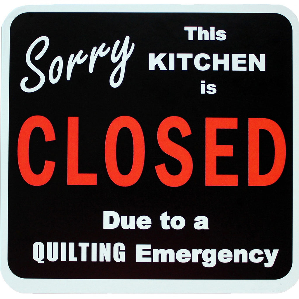 Sorry Kitchen is Closed Magnet 5-1/4in