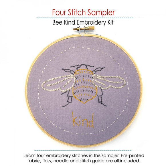 Bee Kind Embroidery Kit