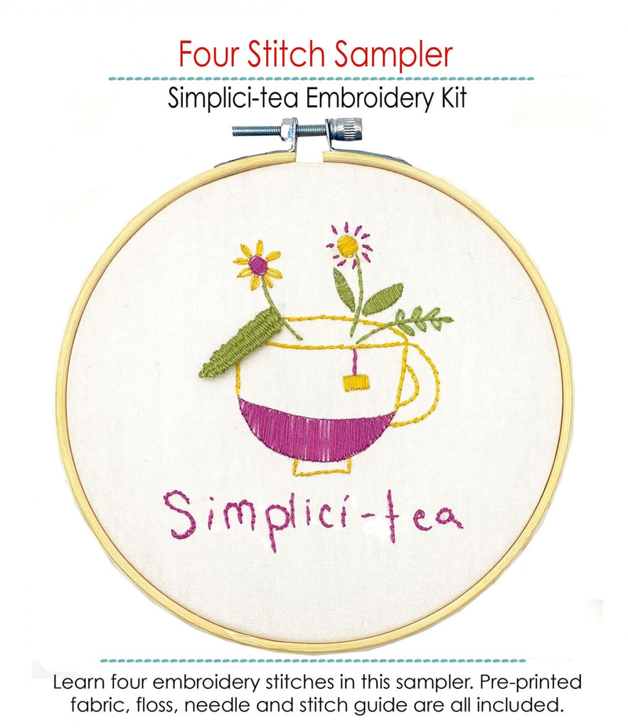 Simplici-Tea Embroidery Kit