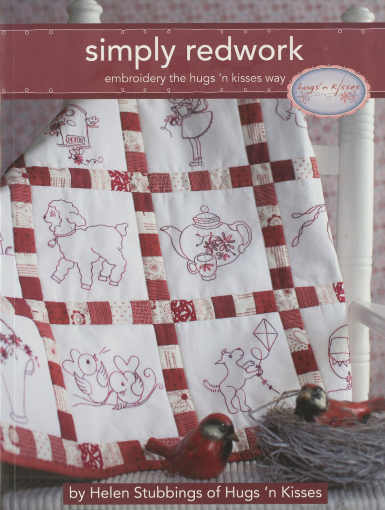 Hugs N Kisses Simply Redwork Quilting Books Patterns And Notions