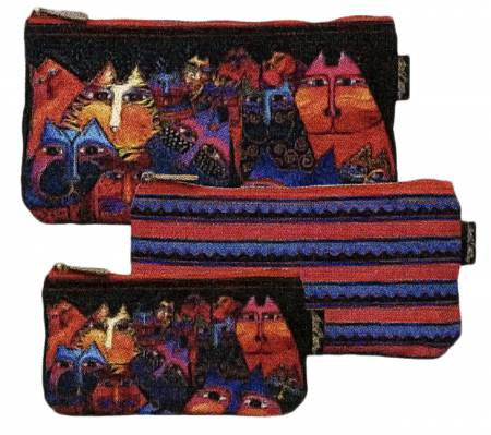 Cosmetic Bags Fantasticats Set of 3