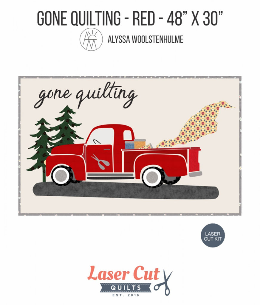 Gone Quilting Firehouse Red Laser Cut Kit