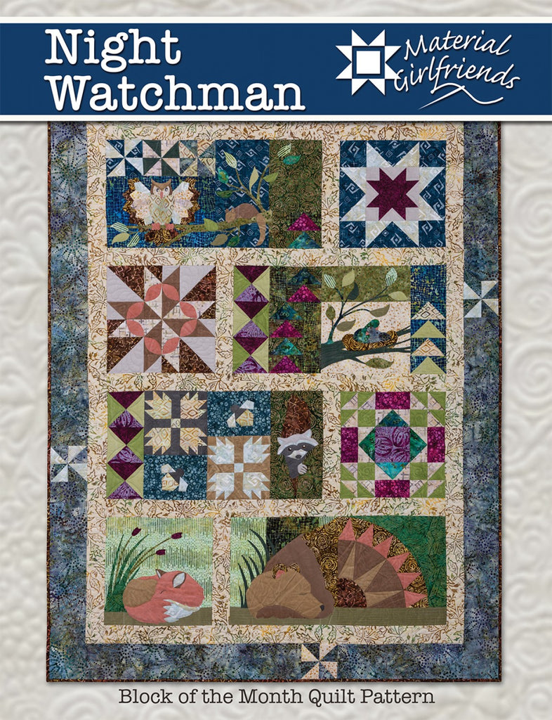 Night Watchman Block Of The Month Quilt Pattern