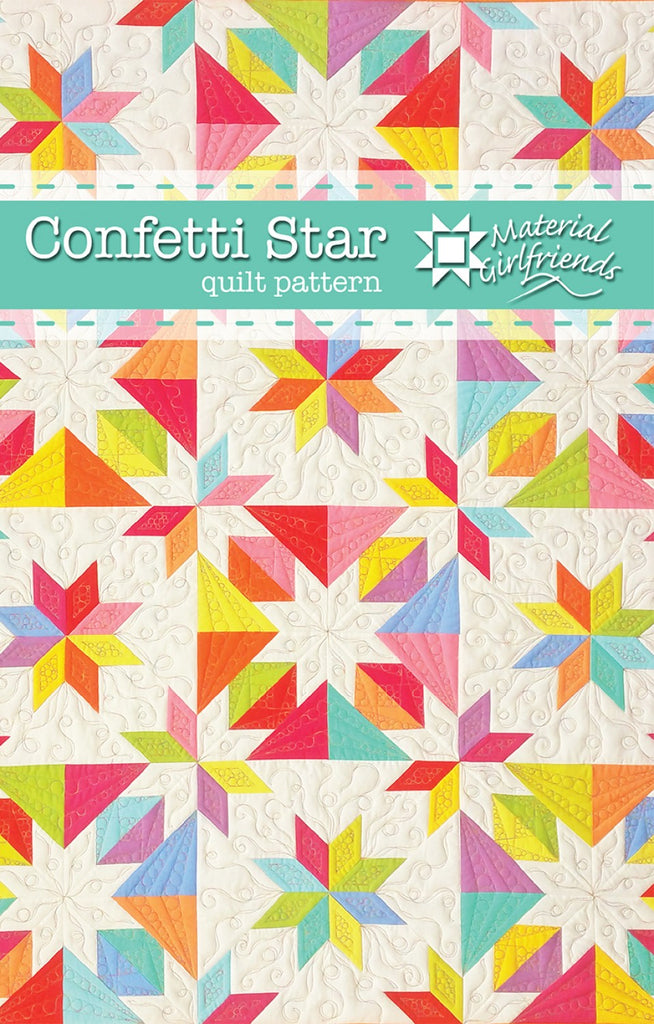 4 Size Options Lap to King Hunters Star Simplified Quilt Pattern No Y Seams No Diamonds