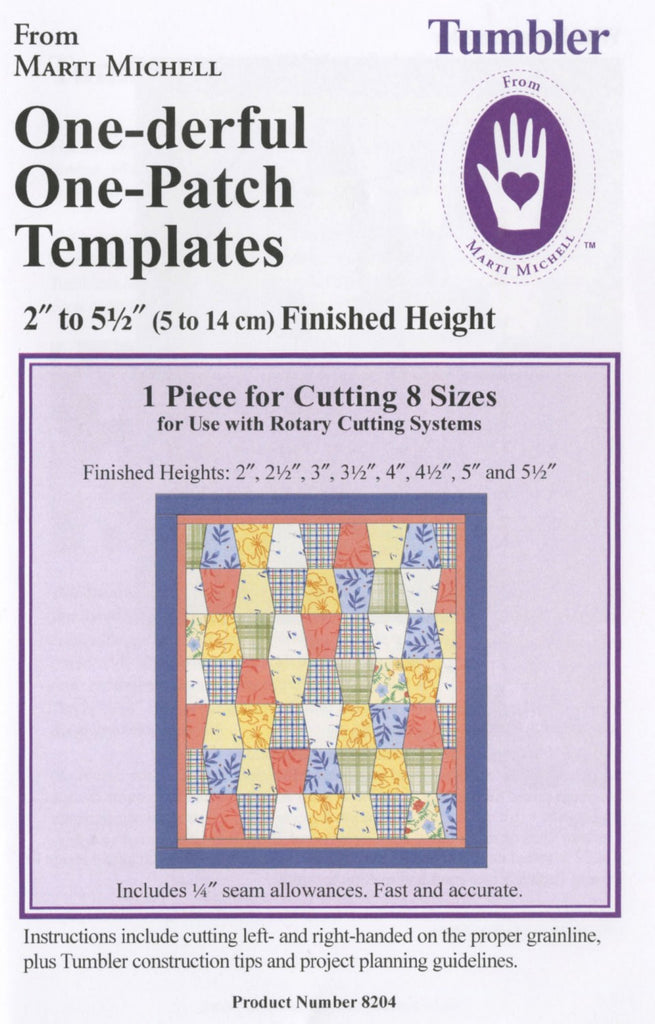 one derful one patch tumbler template quilting books patterns and