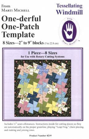 one derful one patch tessellating windmill template quilting books