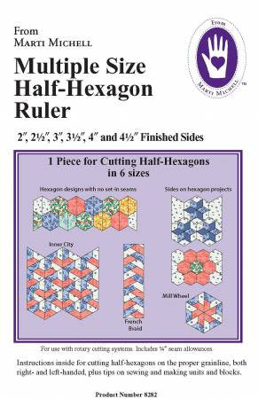 Multi Size Half-Hexagon Ruler