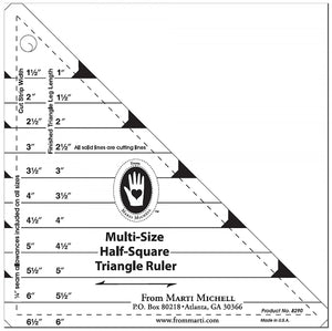 Multi-Size Half Square Ruler