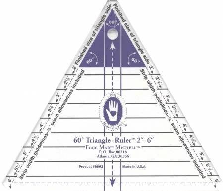 60-degree Triangle Ruler