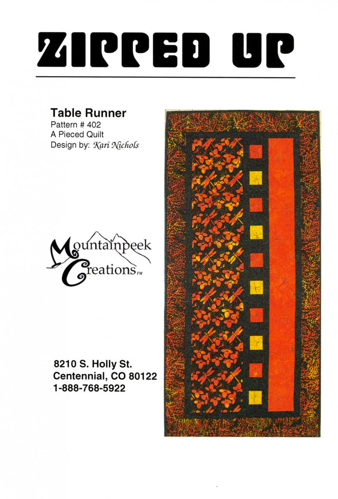 Zipped Up Table Runner