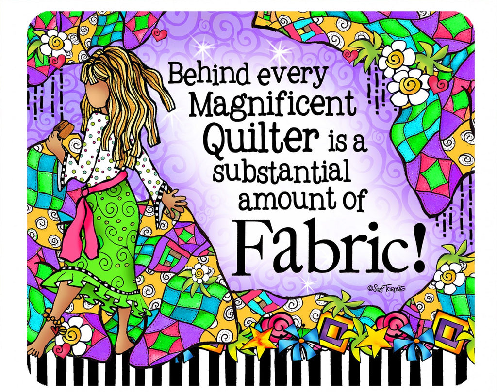 Quilt Fabric Mouse Pad