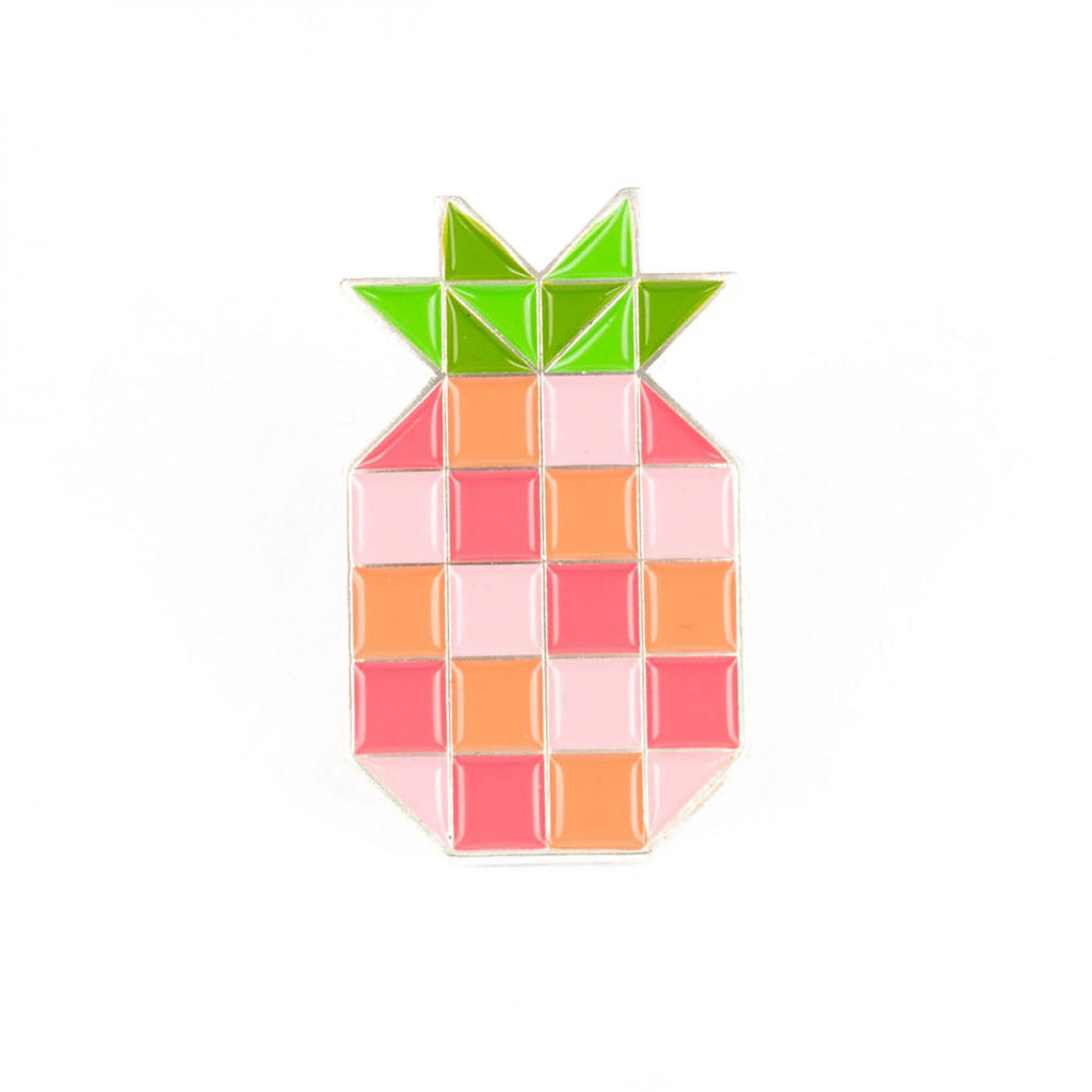 Pineapple Block Enamel Pin