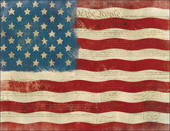 Vintage American Flag Note Card