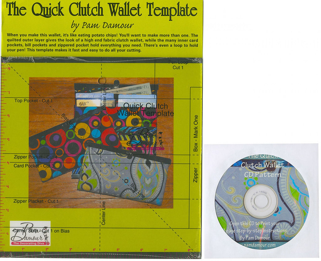 Quick Clutch Wallet Template and Pattern