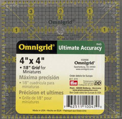 Omnigrid Ruler 4in x 4in With 1/8in Grid For Miniatures