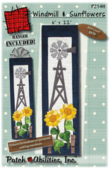 Windmill and Sunflowers Pattern With Hanger