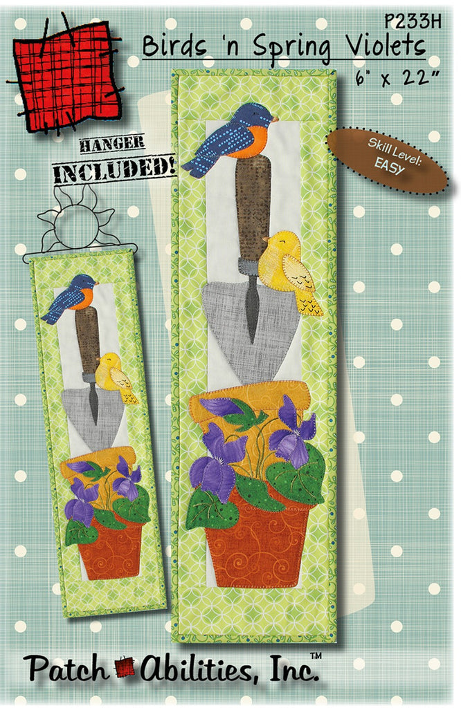 Birds n Spring Violets with 6in Sun Hanger