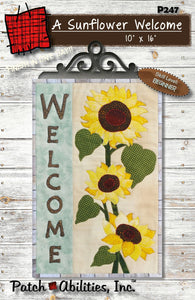 A Sunflower Welcome with Hanger