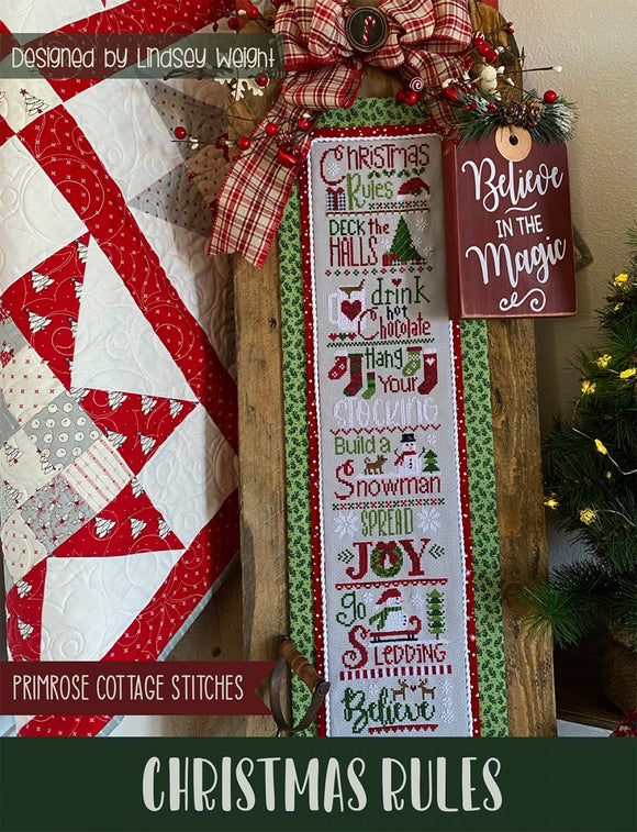 Christmas Rules Cross Stitch