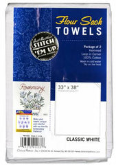 Aunt Martha's Old Fashion Flour Sack Towels 33in x 38in- Classic White
