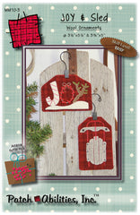 Joy & Sled Wool Ornaments
