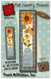 Fall Country Flowers with Buttons and Hanger