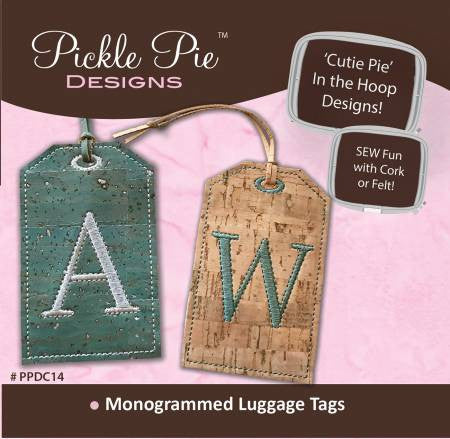 Monogrammed Luggage Tags – Quilting Books Patterns and Notions : quilting luggage tags - Adamdwight.com