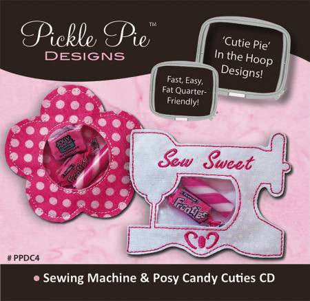 Sewing Machine & Posy Embroidery CD