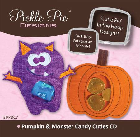 Pumpkin & Monster Candy Cuties Embroidery CD