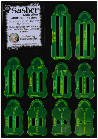 Paulines Quilting World PQW-O2 Sasher Collection Mini Set Rulers /& Accessories