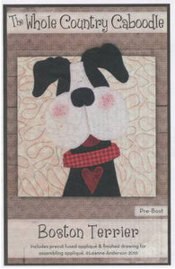Boston Terrier Precut Applique