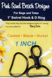 Swivel Hook & D Rings set