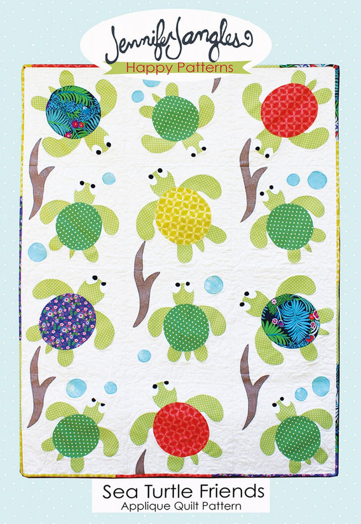 Sea Turtle Friends Applique Quilt – Quilting Books Patterns and Notions