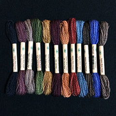 Thread Size 8 2ply Wool 12 Sk Sampler Primitive Art