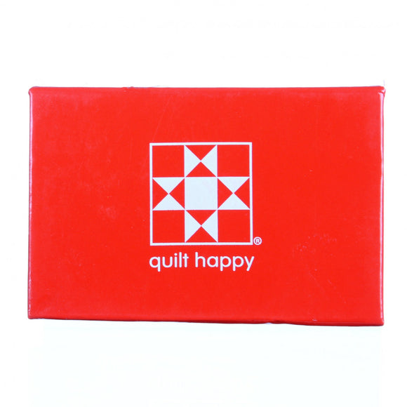 Quilt Happy Micro Sticky Novel Red
