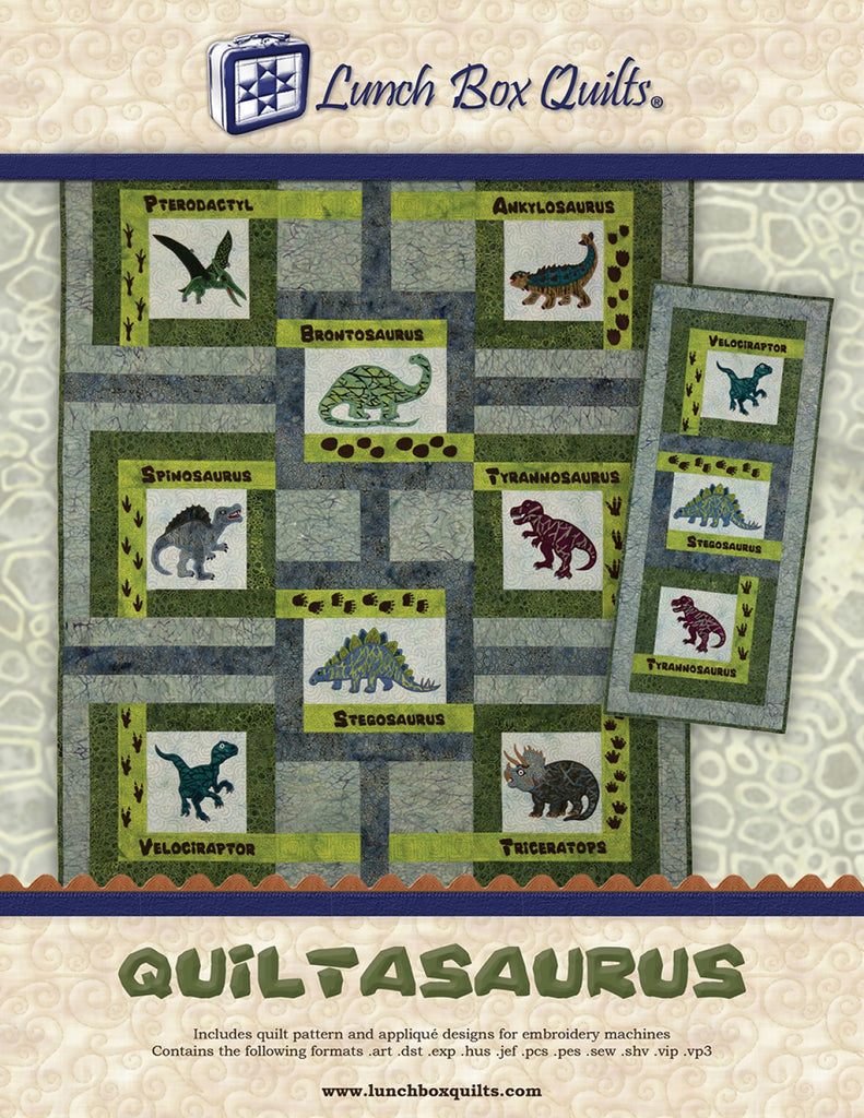 Quiltasaurus Machine Embroidery Cd Quilting Books Patterns And Notions
