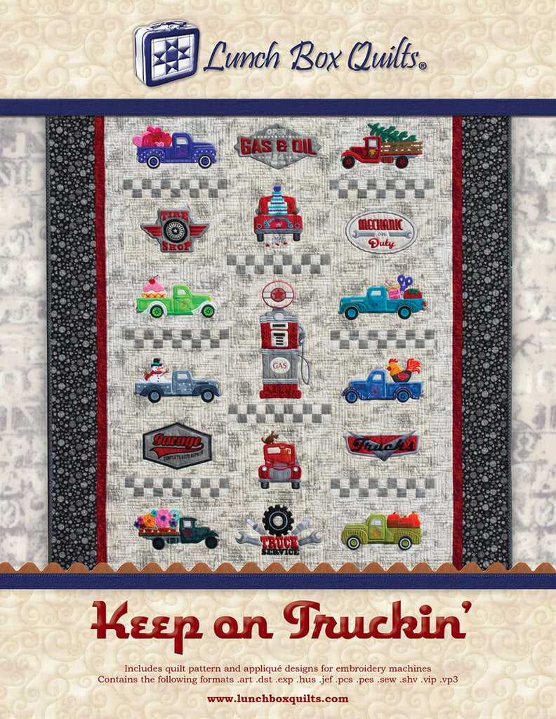 CD Keep On Truckin Applique Embroidery