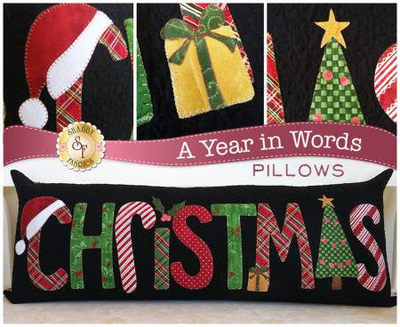 A Year In Words Pillows - Christmas