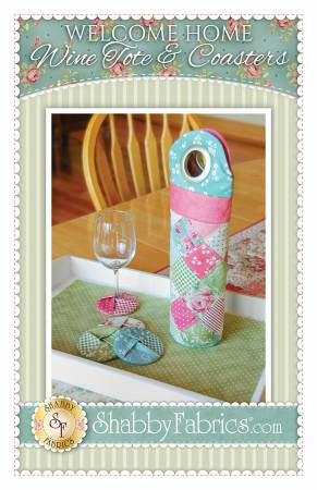 Welcome Home Wine Tote & Coaster