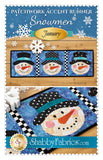 Patchwork Accent Runner Snowmen January