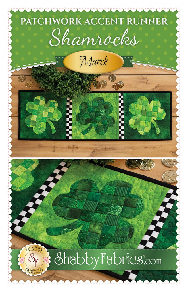 Patchwork Accent Runner Shamrocks March