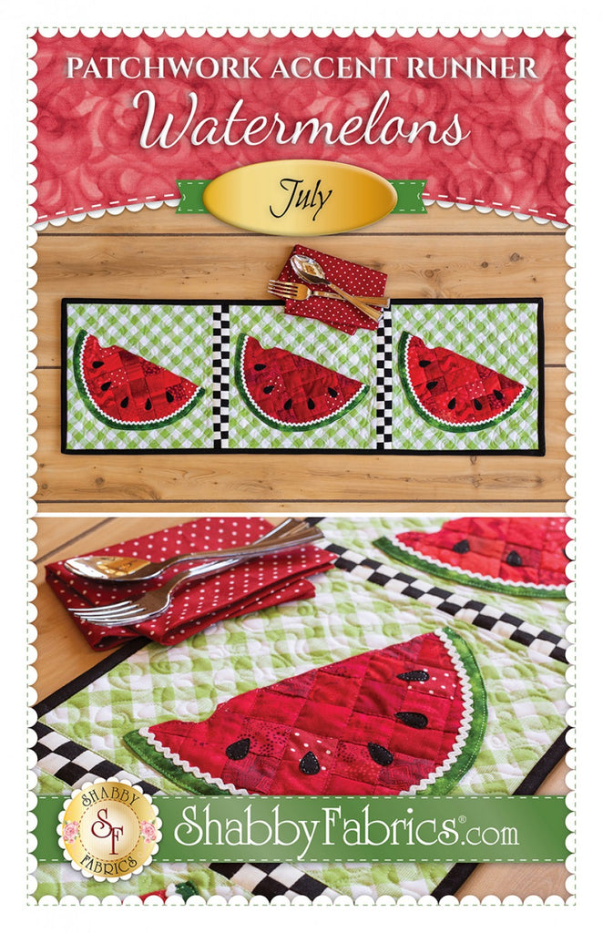 Patchwork Accent Runner Watermelons July