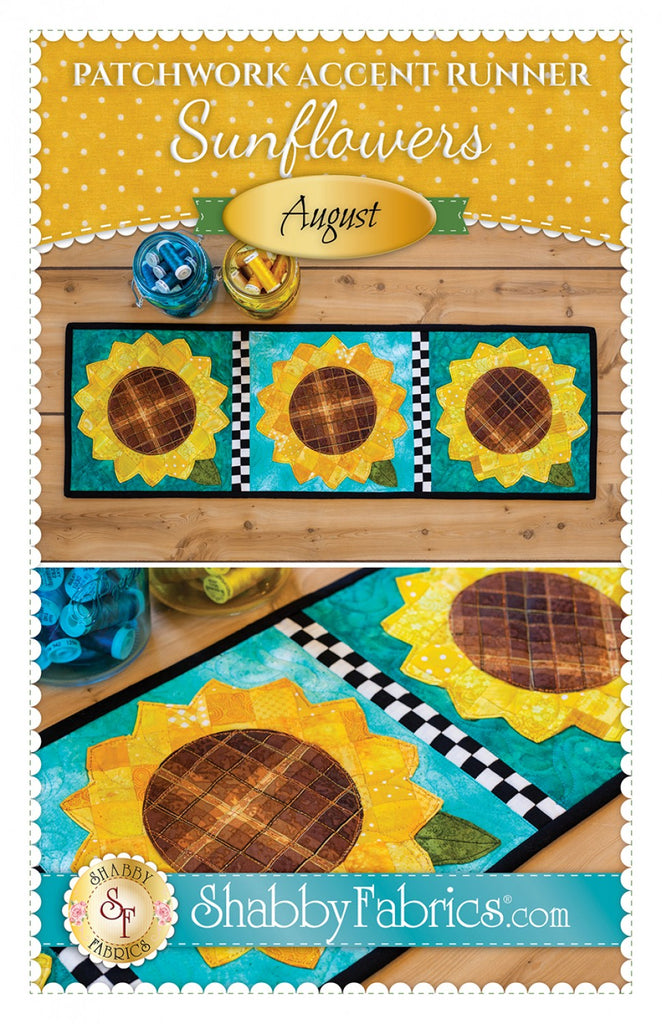 Patchwork Accent Runner Sunflowers August
