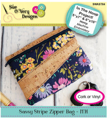 Sassy Stripe Zipper Bag - ITH