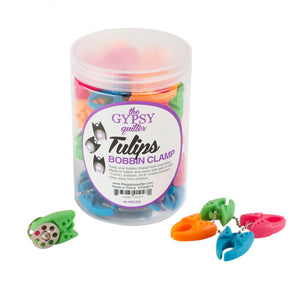 The Gypsy Quilter Tulip Clamps 60pc Jar