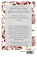 Needle Turn & Wool Applique Freezer Paper